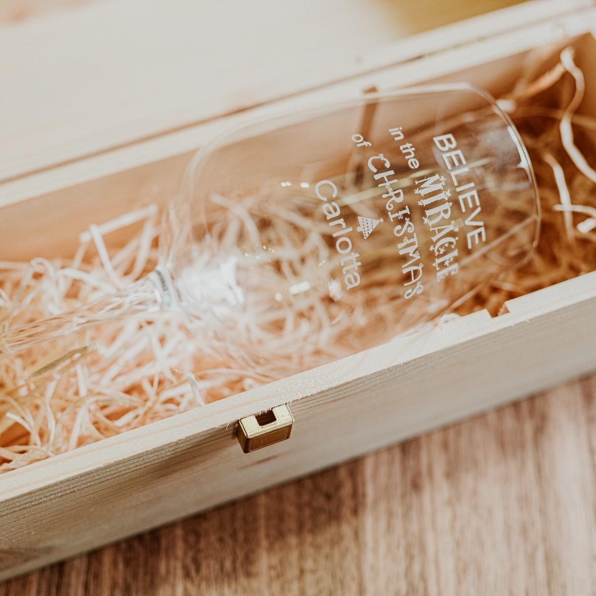 cassetta legno con calice singolo