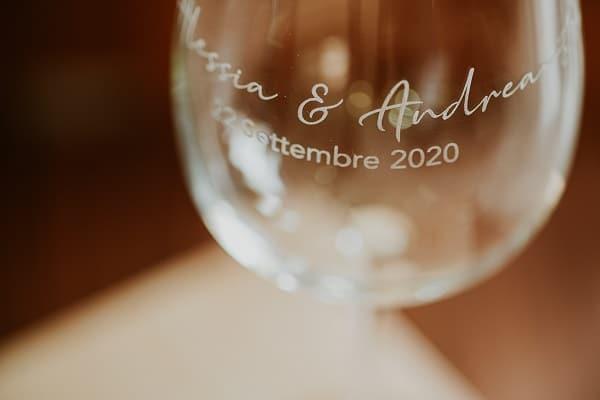 Calici da vino personalizzato