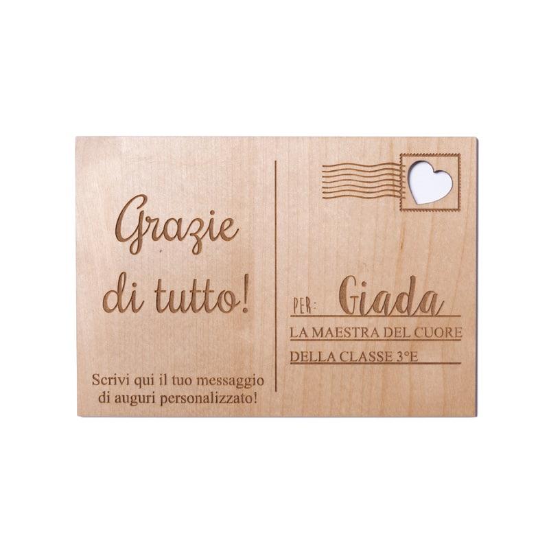 cartolina in legno