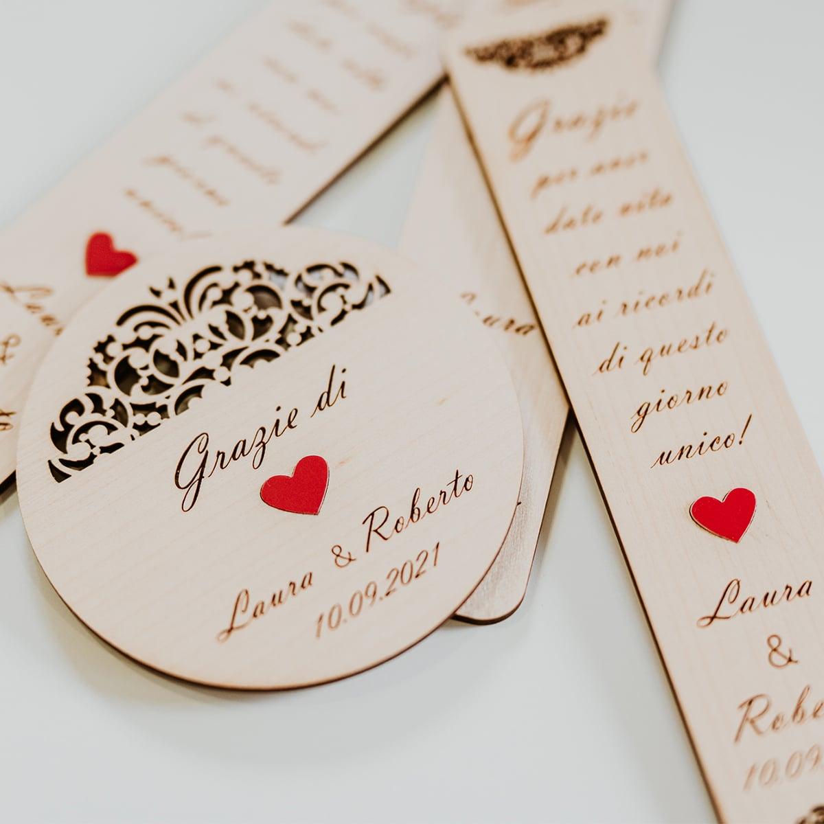 segnaposto personalizzati per matrimonio