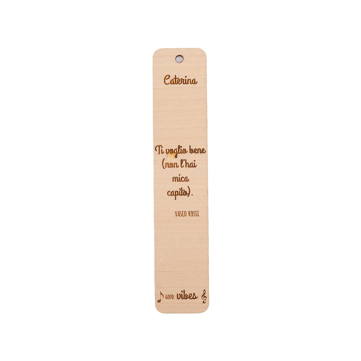 Segnalibro in legno personalizzabile con frase canzone famosa - Vasco Rossi