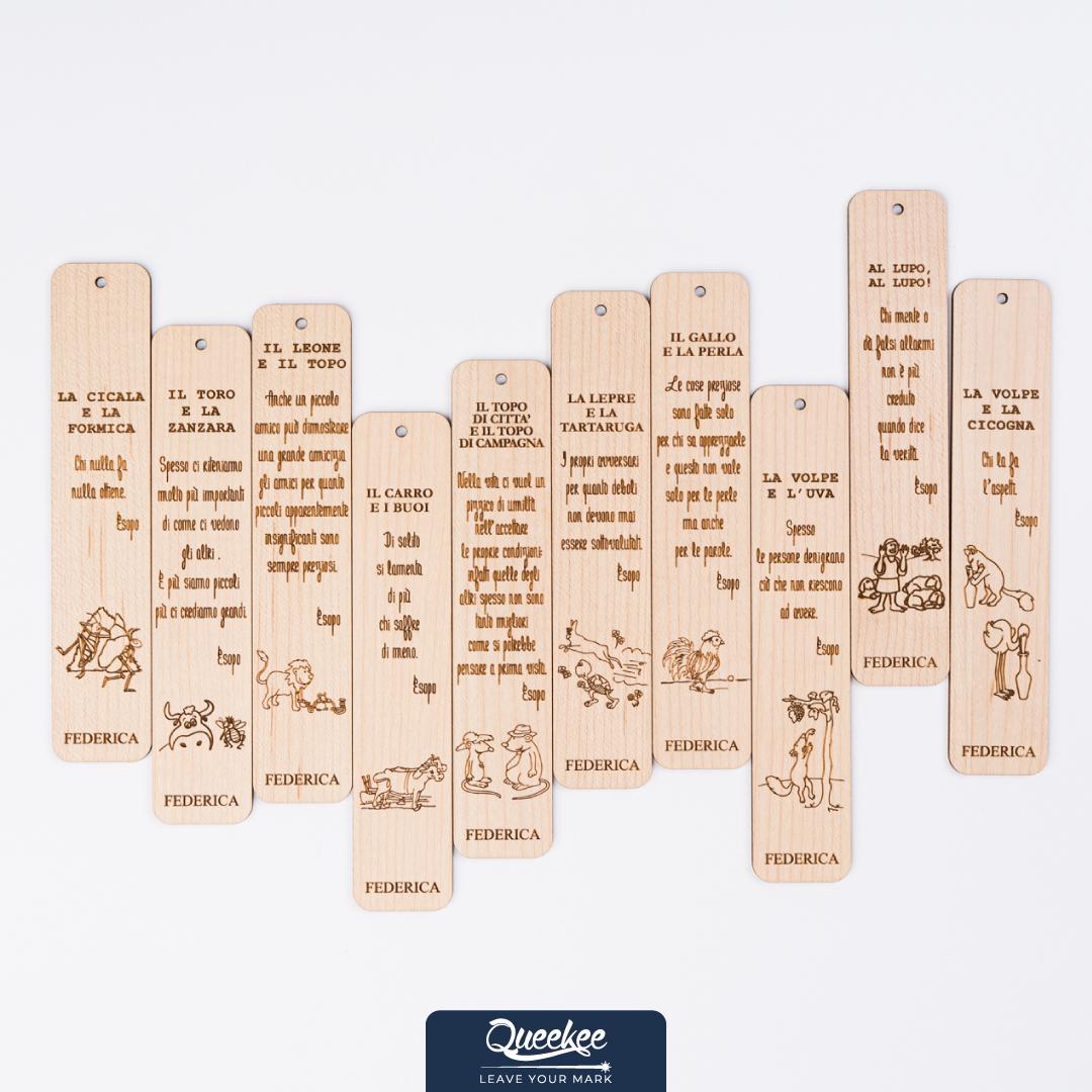 segnalibri in legno personalizzati